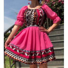 Rochie voal cu imprimeu traditional Sierra