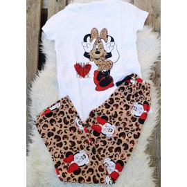 Pijama dama Minnie leopard