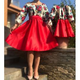 Set rochii Mama-Fiica cu model gypsy Aria scurt