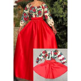 Set rochii Mama-Fiica cu model gypsy Aria lung
