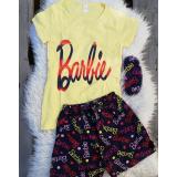Pijama scurta Barbie galben
