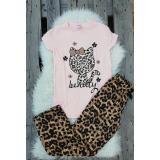 Pijama dama Kitty leopard roz