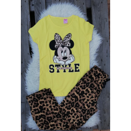 Pijama dama Minnie Style galben