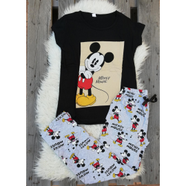 Pijama dama Disney Mickey negru