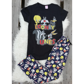 Pijama dama Junior Looney Toons negru