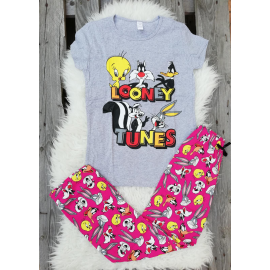 Pijama dama Junior Looney Toons gri