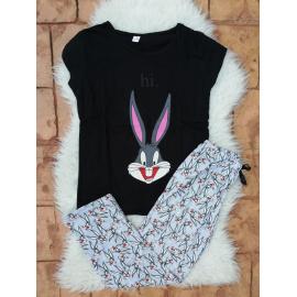 Pijama dama Bugs bunny Hi negru