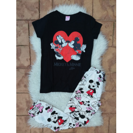 Pijama dama kissing booth Negru