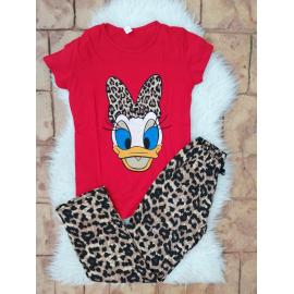 Pijama dama Daisy leopard Rosu