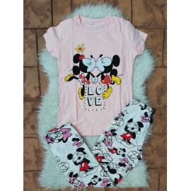 Pijama dama Kiss Minnie si Mickey Roz