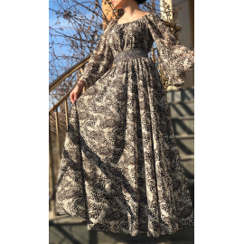 Rochie lunga din voal Cezara