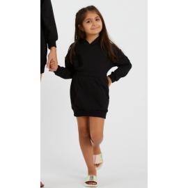 Rochie fetita model sport cu gluga
