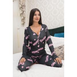 Pijama dama tip salopeta Barbie