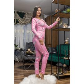 Pijama dama tip salopeta Barbie Roz