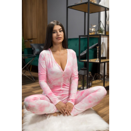Pijama dama tip salopeta Colorful Pink