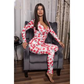 Pijama dama tip salopeta Cherry