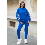 Trening albastru electric din tricot cu dungi