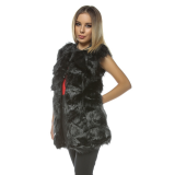 Vesta lunga de blana Frozen negru Plus size