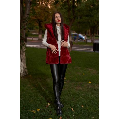 Vesta de dama lunga din blana