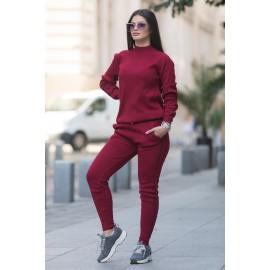 Trening tricot Fashion Bordo