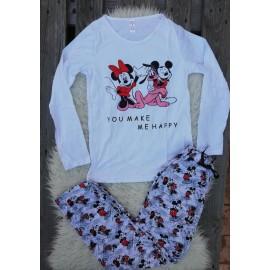 Pijama cu maneca lunga Friends Goofy Alb