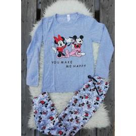 Pijama cu maneca lunga Friends Goofy Gri