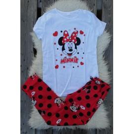 Pijama dama Minnie alb
