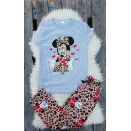 Pijama cu maneca lunga In Love Minnie rosu