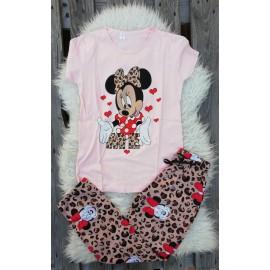 Pijama cu maneca lunga In Love Minnie Roz