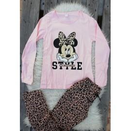 Pijama cu maneca lunga Style Minnie roz