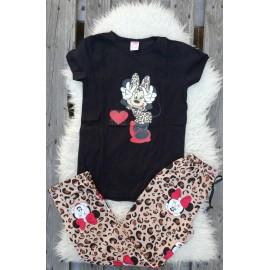 Pijama dama Leopard Cool Minnie negru