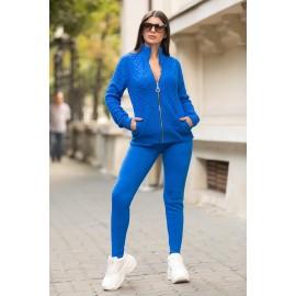 Trening din tricot Alessia Albastru