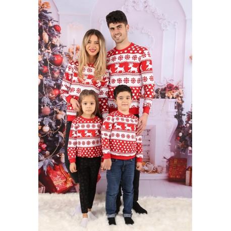 Set Bluze Family Zendy rosu