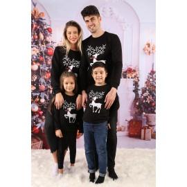 Set Bluze Family Crush Christmas Negru