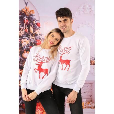 Set Bluze Cuplu Crush Christmas Alb Idei Cadouri de Craciun Online
