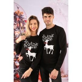 Set Bluze Cuplu Crush Christmas Negru