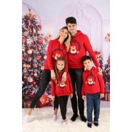 Set Bluze Family Rewdeer Enow Rosu