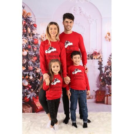 Set Bluze Family Frazier Rosu Idei Cadouri de Craciun Online