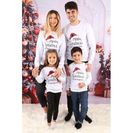 Set Bluze Family Frazier Alb Idei Cadouri de Craciun Online