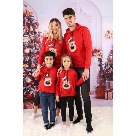 Set Bluze Family Bear Christmas Rosu Idei Cadouri de Craciun Online