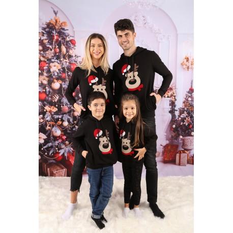 Set Bluze Family Bear Christmas Negru Idei Cadouri de Craciun Online