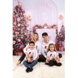Set Bluze Family Bear Christmas Alb