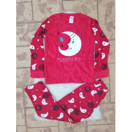Pijama dama model Crescent Rosu