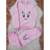Set pijamale cocolino mama-copil Roz