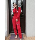 Pijama cocolino dama kiki Rosu