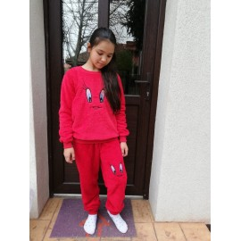 Pijama cocolino copil kiki Rosu