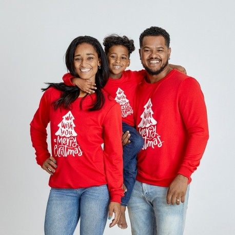 Set Bluze Family Wish Rosu Idei Cadouri de Craciun Online