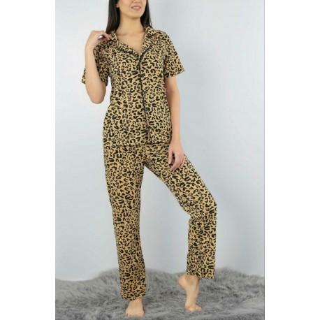 Pijama dama 2 piese Leopard