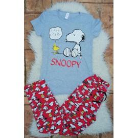 Pijama dama Snoopy Smart Gri