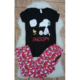 Pijama dama Snoopy Smart Negru